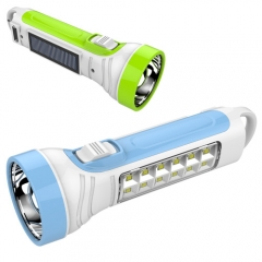 2W+12SMD led solar high power flashlight