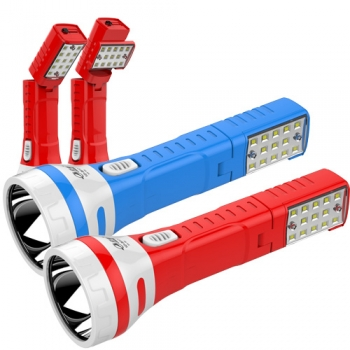 2w+13SMD rechargeable led flashlight